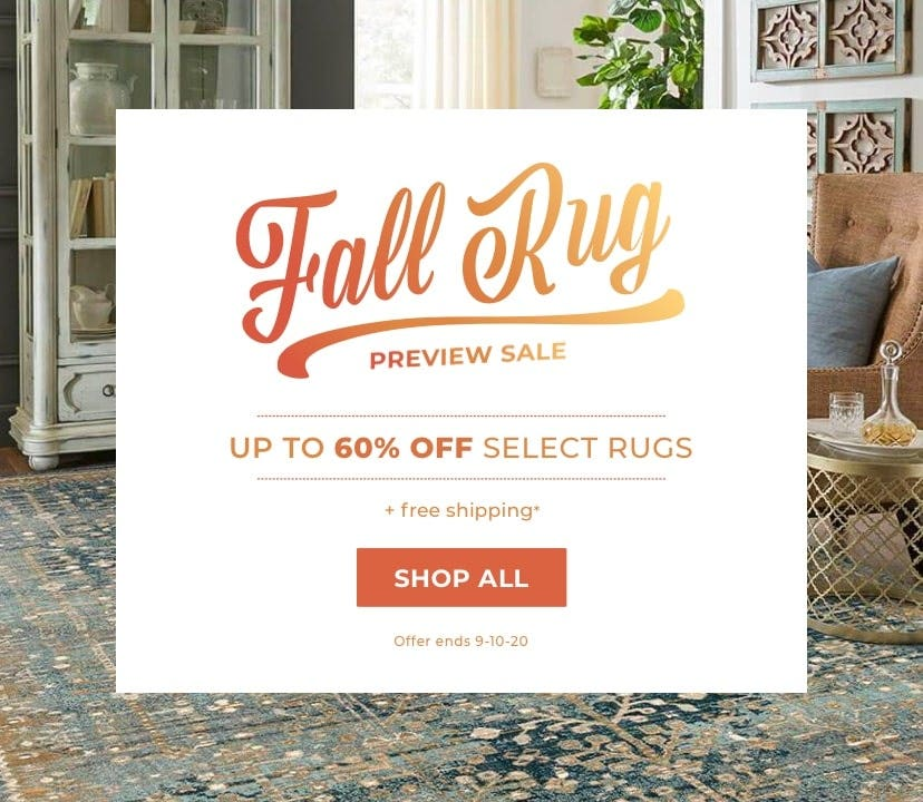 Fall Rug Preview Sale