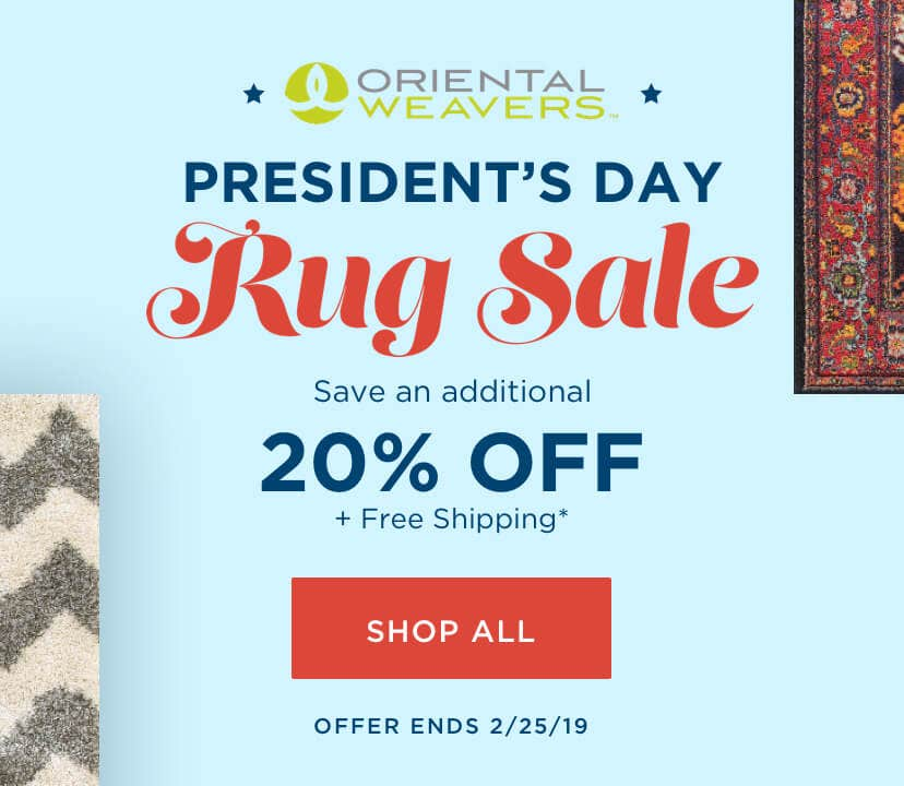 Oriental Weavers President's Day Rug Sale